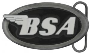 BSA Oval Logo (black) Belt Buckle with display stand . Code MA2